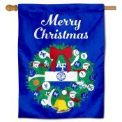 Air Force Falcons Christmas Holiday House Flag