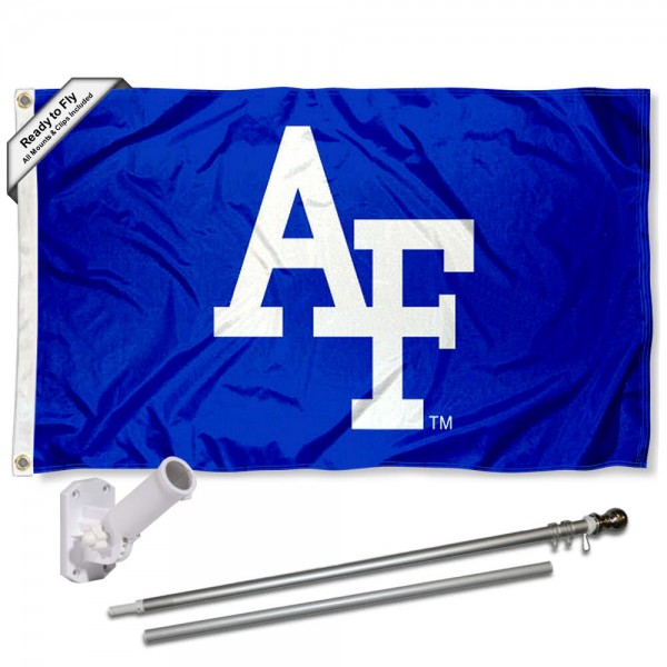 Air Force Falcons Flag and Bracket Flagpole Set