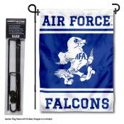 Air Force Falcons Garden Flag and Yard Pole Holder Set