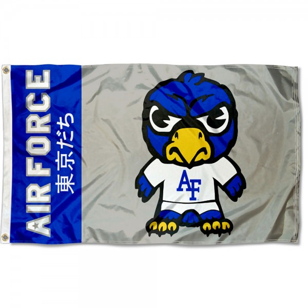 Air Force Falcons Tokyodachi Cartoon Mascot Flag