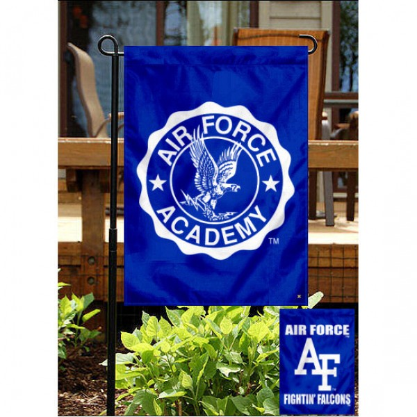 Air Force Fightin Falcons Double Logo Garden Flag