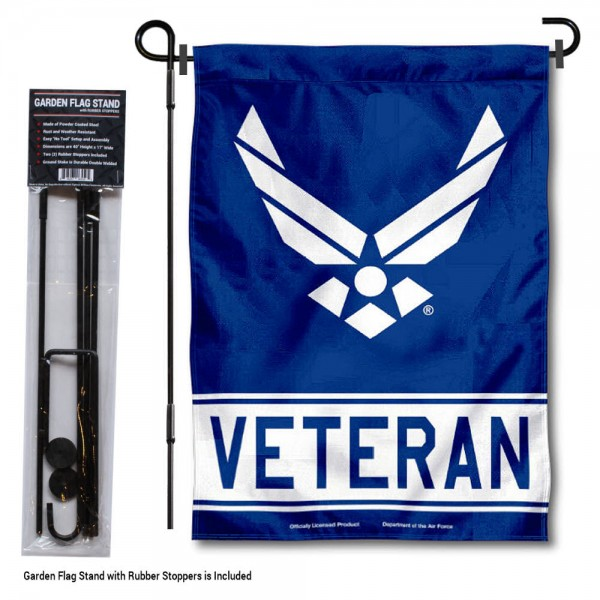 Air Force Veteran Garden Flag and Holder