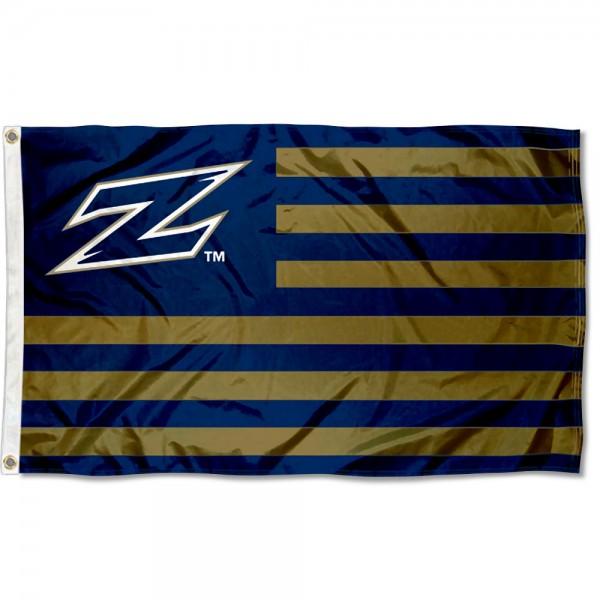 Akron Zips American Nation Flag