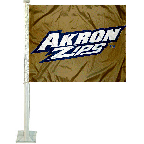 Akron Zips Car Flag