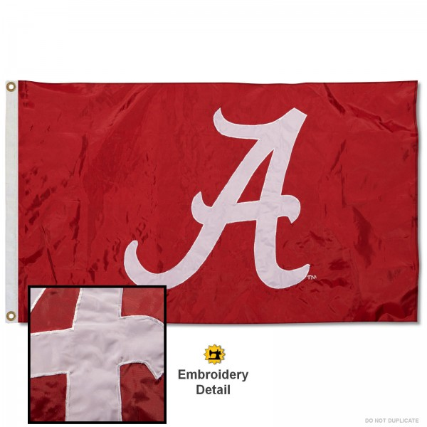 Alabama Crimson Tide Appliqued Nylon Flag