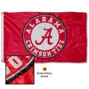 Alabama Crimson Tide Appliqued Sewn Nylon Flag