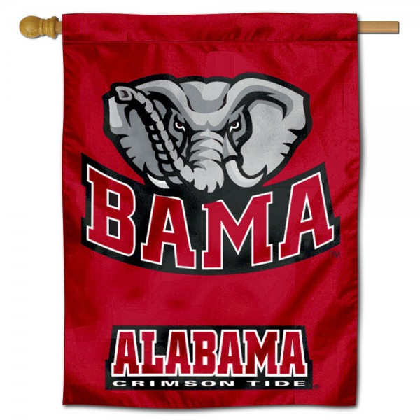 Alabama Crimson Tide Bama Polyester House Flag