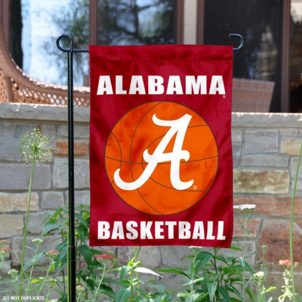 Alabama Crimson Tide Basketball Garden Flag