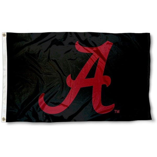 Alabama Crimson Tide Black Flag