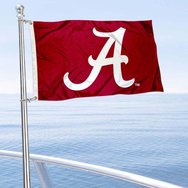 Alabama Crimson Tide Boat Flag