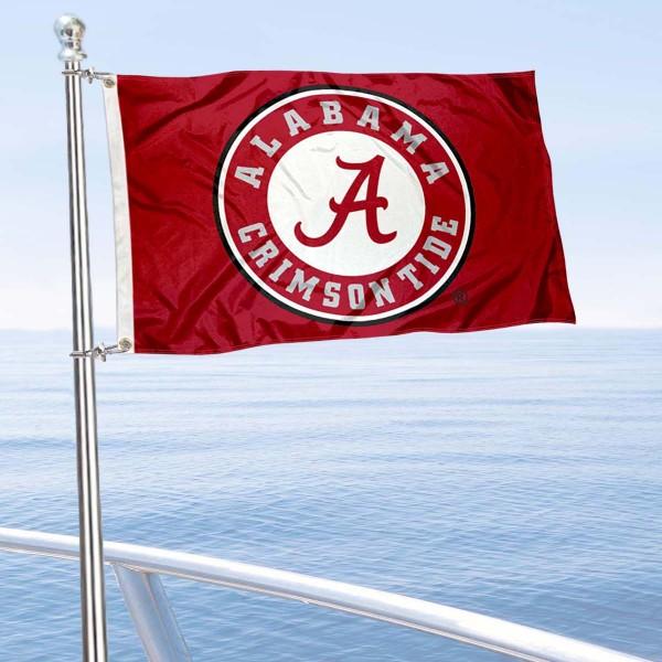 Alabama Crimson Tide Circle Nautical and Golf Cart Flag