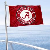 Alabama Crimson Tide Circle Nautical and Golf Cart Flag