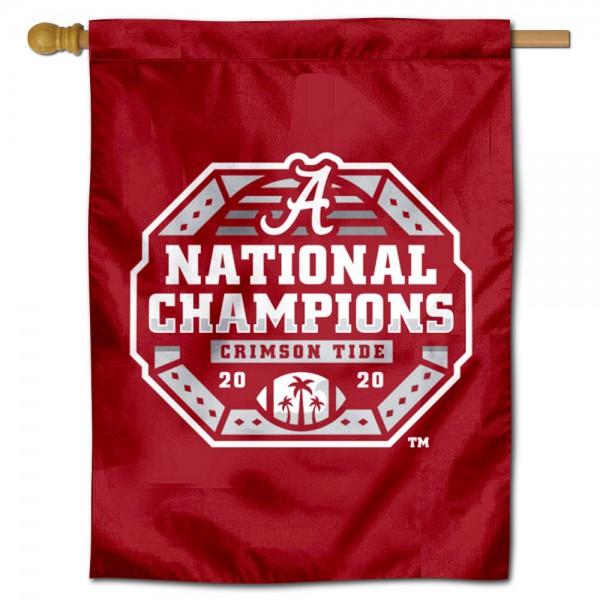 Alabama Crimson Tide College Football Playoff National Championship House Flag