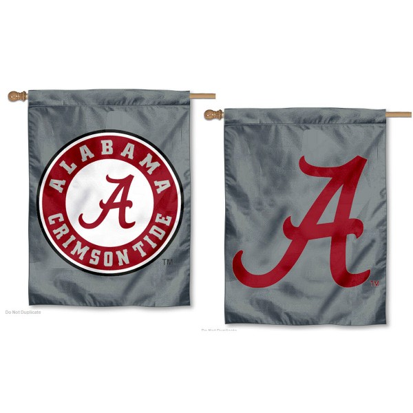 Alabama Crimson Tide Dual Logo House Flag