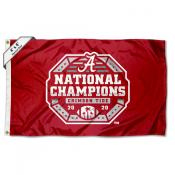 Alabama Crimson Tide Football National Champions 4'x6' Flag
