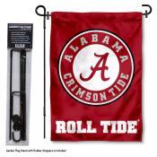 Alabama Crimson Tide Garden Flag and Holder