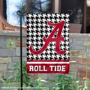 Alabama Crimson Tide Houndstooth Pattern Garden Flag