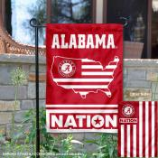 Alabama Crimson Tide Nation Garden Flag