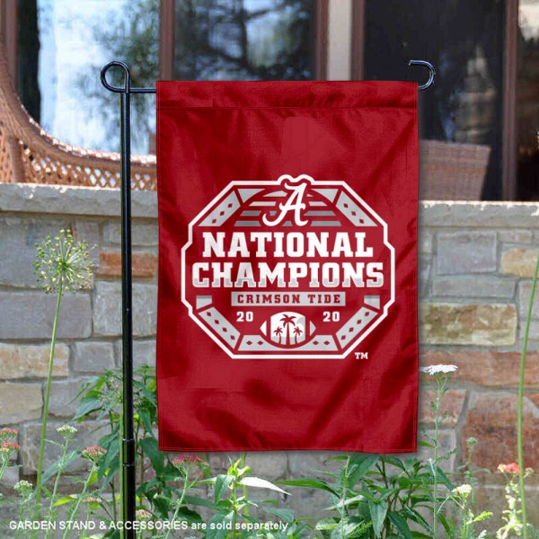 Alabama Crimson Tide Official 2021 CFP Championship Game Double Sided Garden Flag