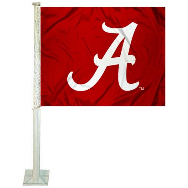 Alabama Crimson Tide Red Car Flag