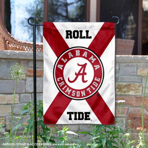 Alabama Crimson Tide Roll Tide State of Alabama Garden Banner