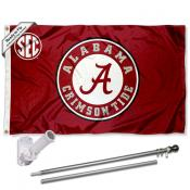 Alabama Crimson Tide SEC Flag and Bracket Flagpole Kit