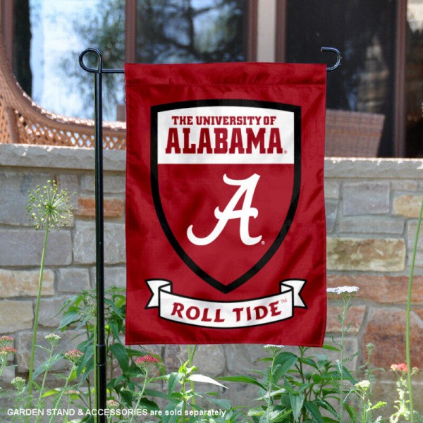 Alabama Crimson Tide Shield Garden Flag
