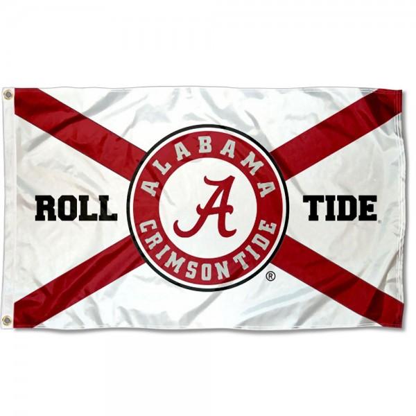 Alabama Crimson Tide State of Alabama Outdoor Flag