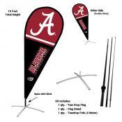 Alabama Crimson Tide Teardrop Flag and Stand Kit