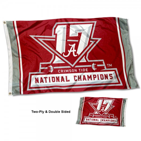 Alabama Crimson Tide Two Sided National Champs 3x5 Foot Flag