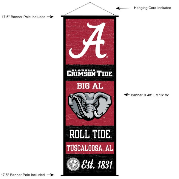 Alabama Crimson Tide Wall Banner and Door Scroll