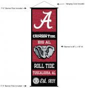 Alabama Crimson Tide Wall Banner and Door Scroll