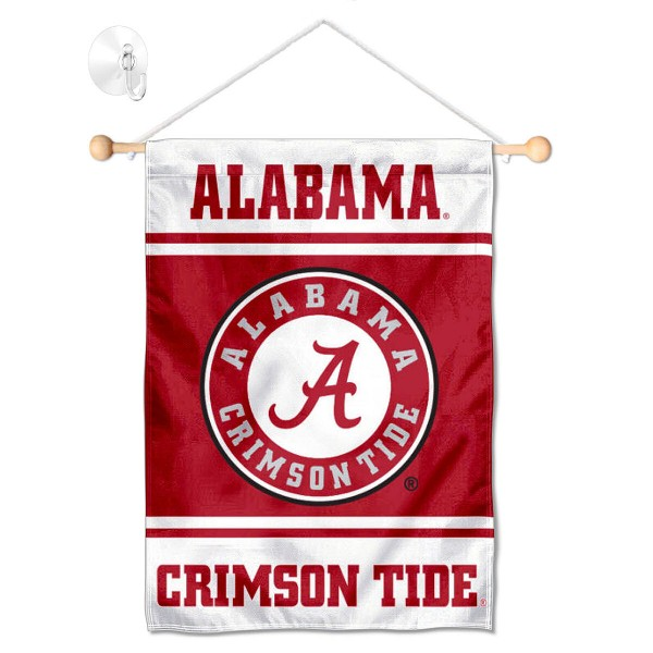 Alabama Crimson Tide Window Hanging Banner with Suction Cup