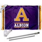 Albion Britons Logo Flag and Bracket Flagpole Kit