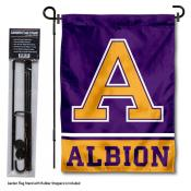Albion College Garden Flag and Yard Pole Holder Set