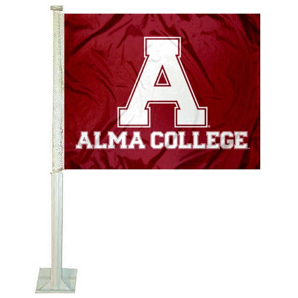 Alma College Scots Car Flag