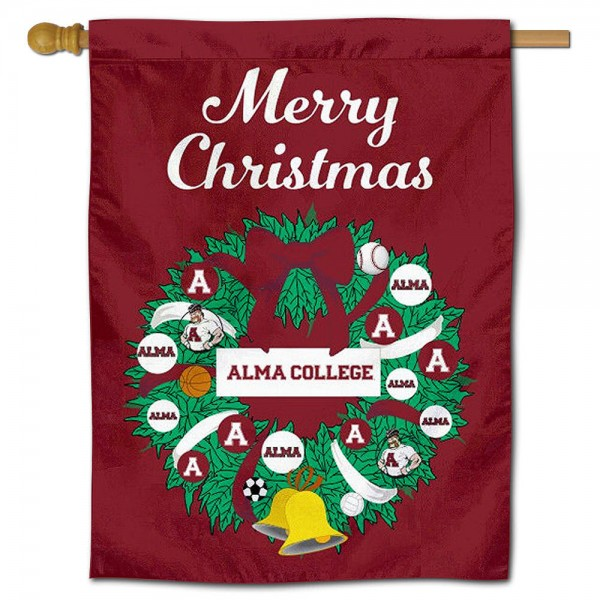 Alma College Scots Christmas Holiday House Flag