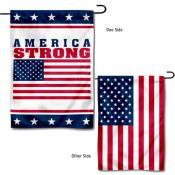 America Strong Yard Garden Banner