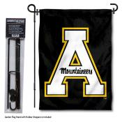App State Mountaineers Garden Flag and Holder