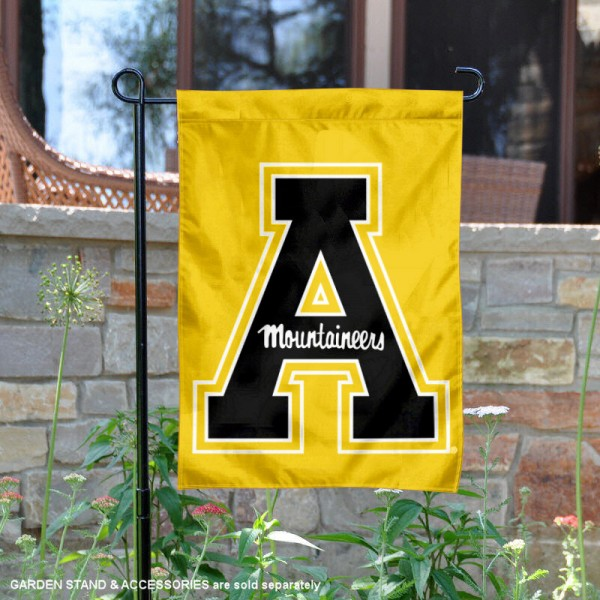 App State Mountaineers New Gold Logo Garden Banner