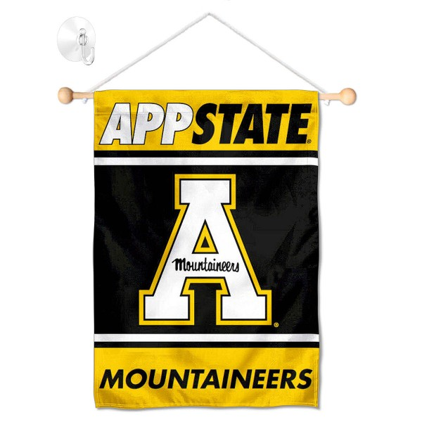 Appalachian State Mountaineers Window Hanging Banner with Suction Cup