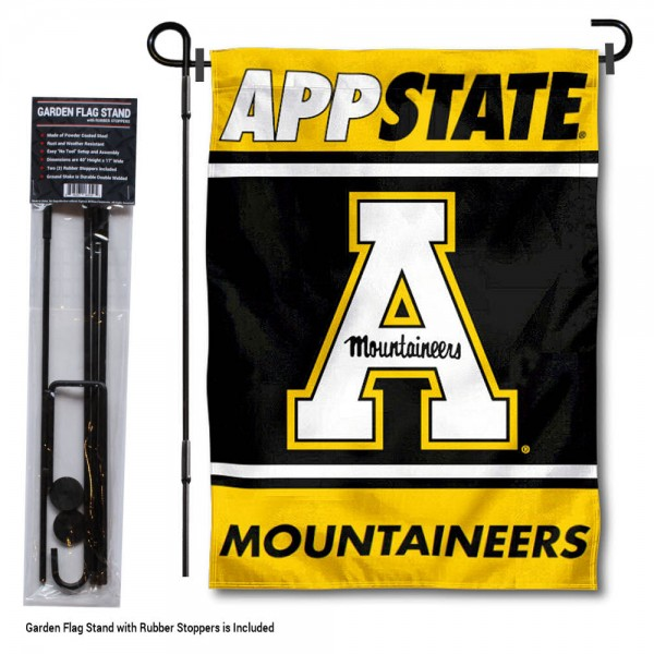 Appalachian State University Garden Flag and Yard Pole Holder Set