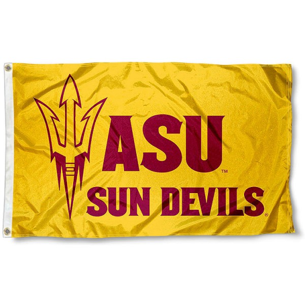 Arizona State New Logo Gold Flag