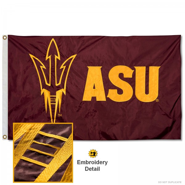 Arizona State Sun Devils Appliqued Nylon Flag