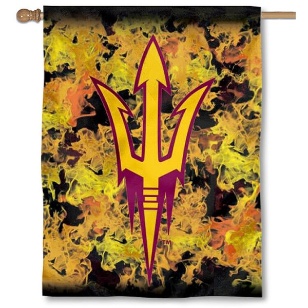 Arizona State Sun Devils Flames House Flag