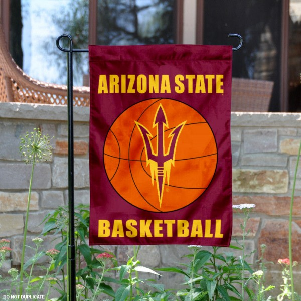 Arizona State University Basketball Garden Flag