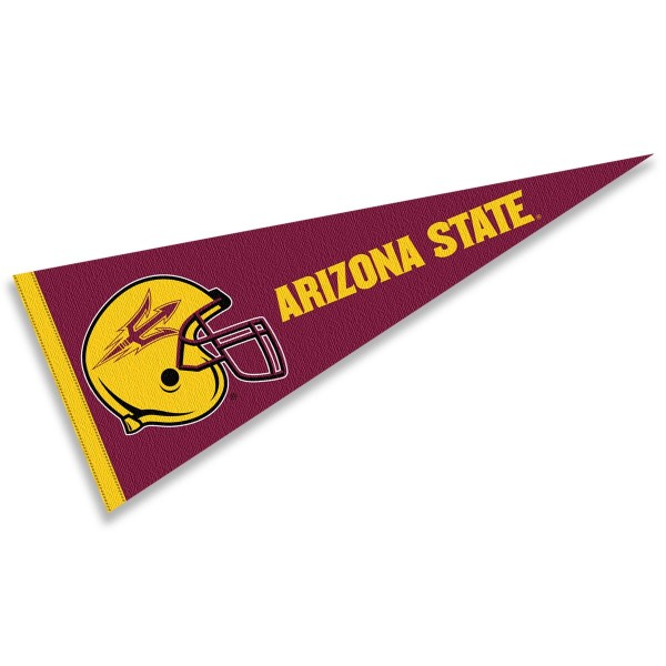 Arizona State University Football Helmet Pennant