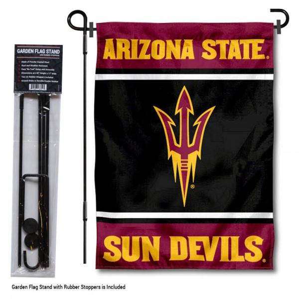 Arizona State University Garden Flag and Yard Pole Holder Set