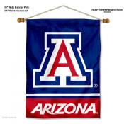 Arizona Wildcats Banner with Pole