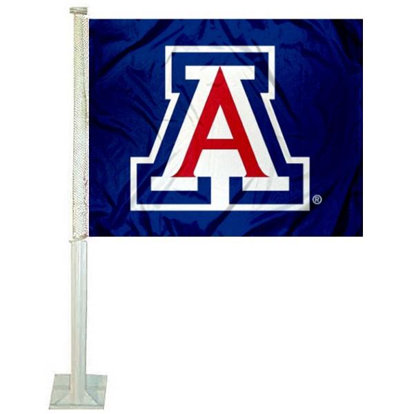 Arizona Wildcats Blue Car Flag